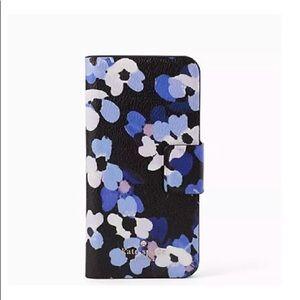 NEW Kate Spade leather Wrap folio iPhone 7 case